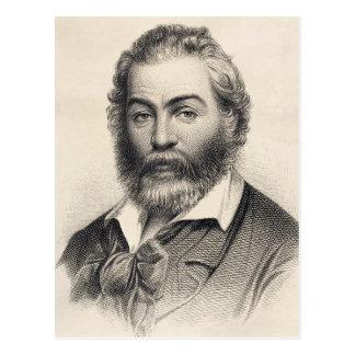 Walt Whitman Woodcut Engraving 1860 Postcard