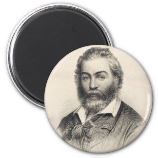 Walt Whitman Woodcut Portrait Magnet