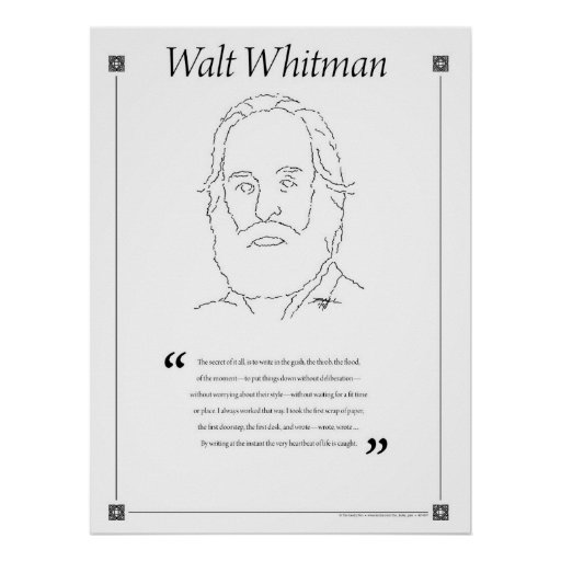 writing style of walt whitman essays Walt whitman: the first modern american poet term american literature most often closely imitated writing styles according to the essay walt whitman and.