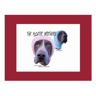 """Walter and Luther Fun With Hats """"Beanie"""" Postcard"""