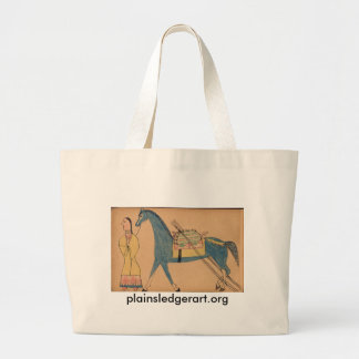 Walter Bone Shirt :  Ancient Way of Travelling Large Tote Bag