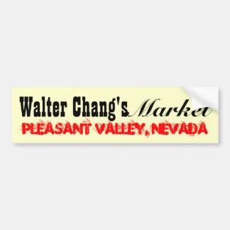 Walter Chang's Market Bumper Sticker