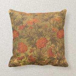 Walter Crane Chrysanthamums Victorian Pillow