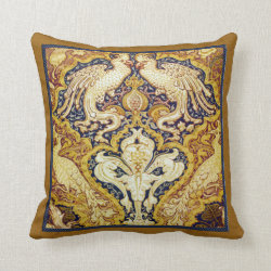 Walter Crane Cockatoos & Peacocks Victorian Pillow