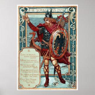 Walter Crane Columbia's Courtship The Norseman Poster