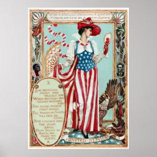 Walter Crane Columbia's Courtship United States Poster
