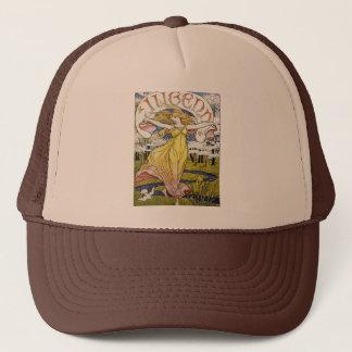 """Walter Crane """"Jugend"""" Art Nouveau Trucker Hat"""
