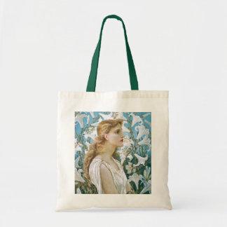 Walter Crane: Lilies Tote Bags