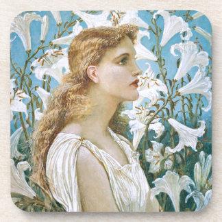 Walter Crane: Lilies Beverage Coaster