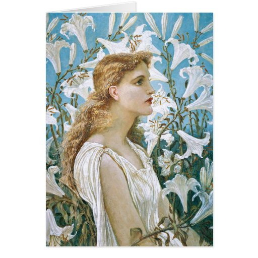 Walter Crane: Lilies Card