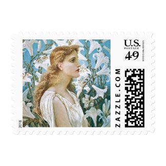 Walter Crane: Lilies Postage Stamp