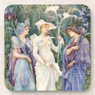 Walter Crane: Signs of Spring Beverage Coaster