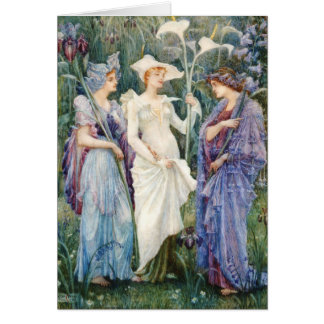 Walter Crane: Signs of Spring Card