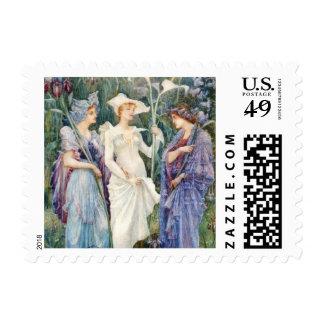 Walter Crane: Signs of Spring Postage Stamp