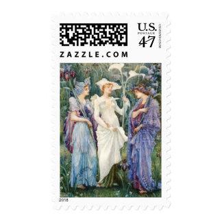 Walter Crane: Signs of Spring Stamp