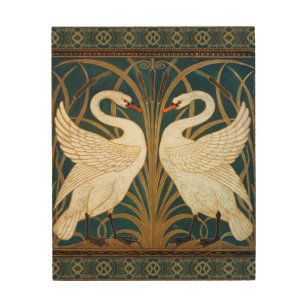 Walter Crane Swan Rush And Iris Art Nouveau