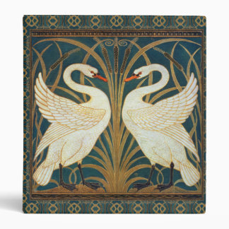 Walter Crane Swan, Rush And Iris Art Nouveau 3 Ring Binder