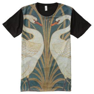 Walter Crane Swan, Rush And Iris Art Nouveau All-Over-Print Shirt