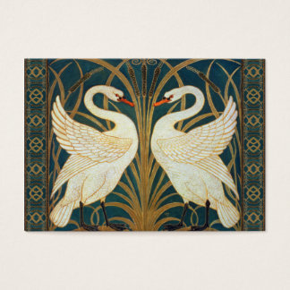 Walter Crane Swan, Rush And Iris Art Nouveau Business Card