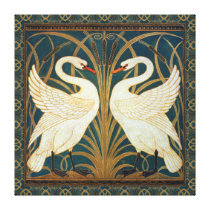 Walter Crane Swan, Rush And Iris Art Nouveau Canvas Print