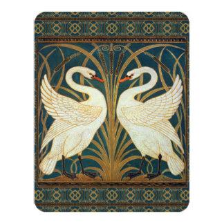 Walter Crane Swan, Rush And Iris Art Nouveau Card
