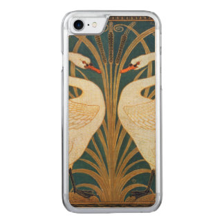 Walter Crane Swan, Rush And Iris Art Nouveau Carved iPhone 7 Case