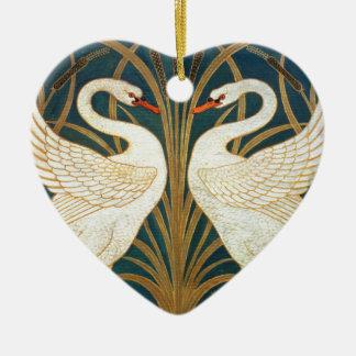Walter Crane Swan, Rush And Iris Art Nouveau Ceramic Ornament