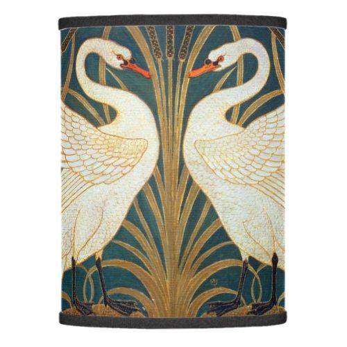 Walter Crane Swan, Rush And Iris Art Nouveau Lamp Shade