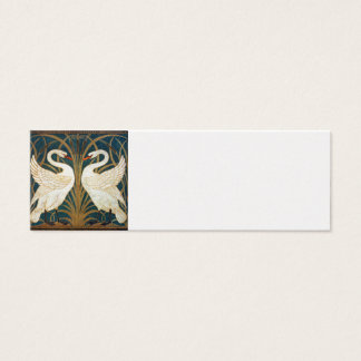 Walter Crane Swan, Rush And Iris Art Nouveau Mini Business Card
