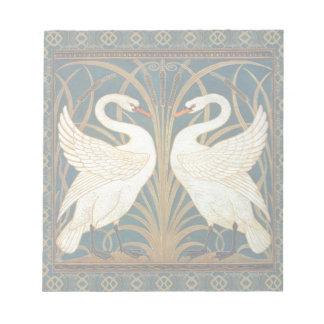 Walter Crane Swan, Rush And Iris Art Nouveau Notepad