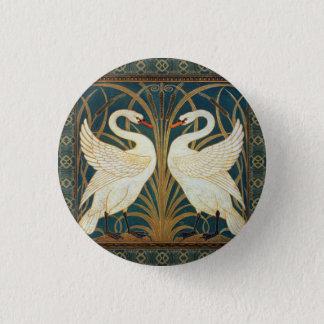 Walter Crane Swan, Rush And Iris Art Nouveau Pinback Button
