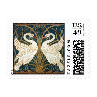 Walter Crane Swan, Rush And Iris Art Nouveau Postage