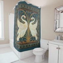 Walter Crane Swan, Rush And Iris Art Nouveau Shower Curtain