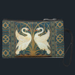 "Walter Crane Swan, Rush And Iris Art Nouveau Suede Wristlet Wallet<br><div class=""desc"">Walter Crane Swan, Rush And Iris Art Nouveau Vintage Art Walter Crane was an English artist and book illustrator. He is considered to be the most influential, and among the most prolific, children's book creator of his generation and one of the strongest contributors to the child&#39;s nursery motif that the...</div>"