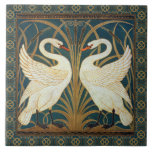 """Walter Crane Swan, Rush And Iris Art Nouveau Tile<br><div class=""""desc"""">Walter Crane Swan, Rush And Iris Art Nouveau Vintage Art Walter Crane was an English artist and book illustrator. He is considered to be the most influential, and among the most prolific, children's book creator of his generation and one of the strongest contributors to the child's nursery motif that the...</div>"""
