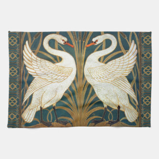 Walter Crane Swan, Rush And Iris Art Nouveau Towels