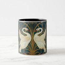 Walter Crane Swan, Rush And Iris Art Nouveau Two-Tone Coffee Mug