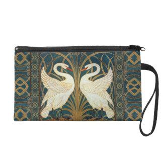 Walter Crane Swan, Rush And Iris Wristlet Clutches