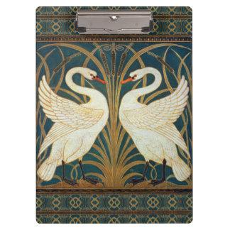 Walter Crane Swan, Rush And Iris Clipboard