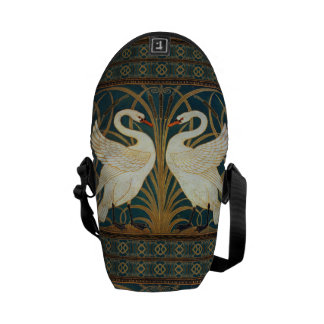 Walter Crane Swan, Rush And Iris Courier Bags