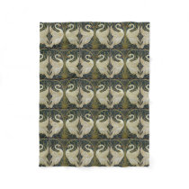 Walter Crane's Swans fleece blanket