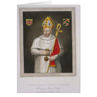 Walter de Merton (d.1277), after a painting in the Greeting Card