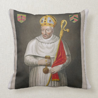 Walter de Merton (d.1277), after a painting in the Throw Pillow
