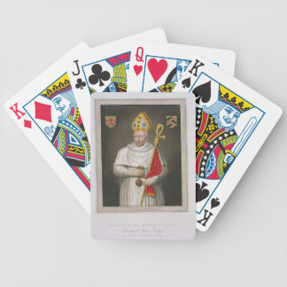 Walter de Merton (d.1277), after a painting in the Bicycle Playing Cards