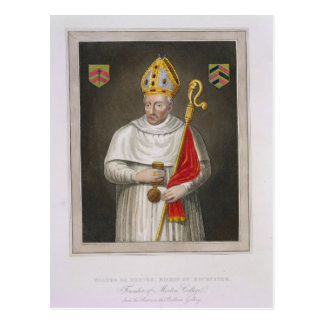 Walter de Merton (d.1277), after a painting in the Postcard