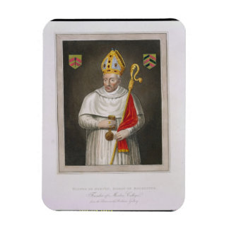 Walter de Merton (d.1277), after a painting in the Rectangular Photo Magnet