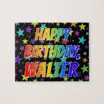 "[ Thumbnail: ""Walter"" First Name, Fun ""Happy Birthday"" Jigsaw Puzzle ]"