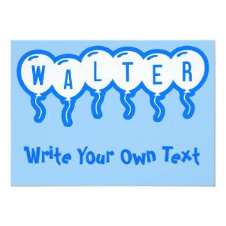 Walter 5x7 Paper Invitation Card