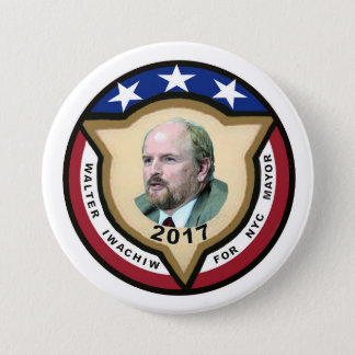 Walter Iwachiw for NYC Mayor in 2017 Button