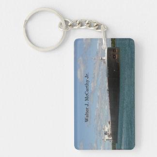 Walter J. McCarthy Jr. rectangle acrylic key chain